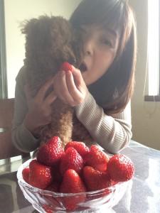 私たちイチゴ好き♡